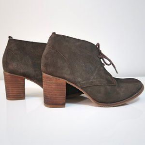 Steve Madden Suede Laceup Ankle Boots Size 8.5